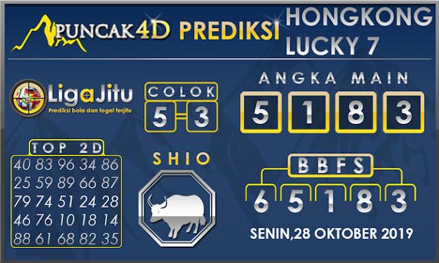 PREDIKSI TOGEL HONGKONG LUCKY7 PUNCAK4D 28 OKTOBER 2019
