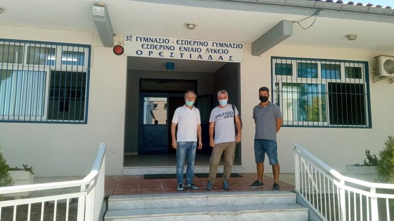 Επίσκεψη της Αυτόνομης Κίνησης Πολιτών Δήμου Ορεστιάδας σε σχολικές μονάδες