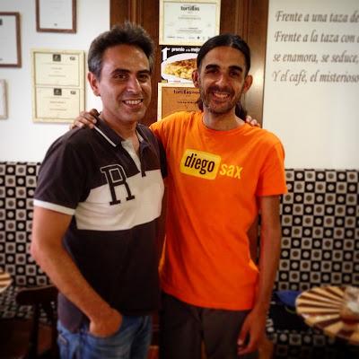 Aquí mi encuentro en Logroño con Ángel Alsasua haciendo el Camino de Santiago desde Roncesvalles - Santiago - Finisterra