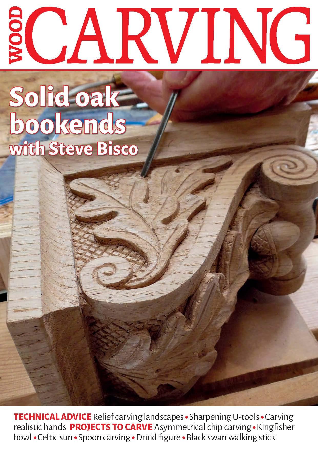 Bìa cuốn tạp chí wood Carving - Solid oak olid oak bookends