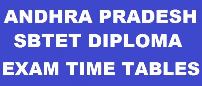 AP SBTET Diploma Time Tables Oct/Nov 2018 For C16, C14, C09