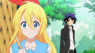 Anime Nisekoi - na screenie Raku Ichijou i Chitoge Kirisaki