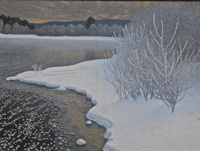 Stockholm : Gustav Faejstad paysage d'hiver Thielska Galleriet ïle de Djugarden