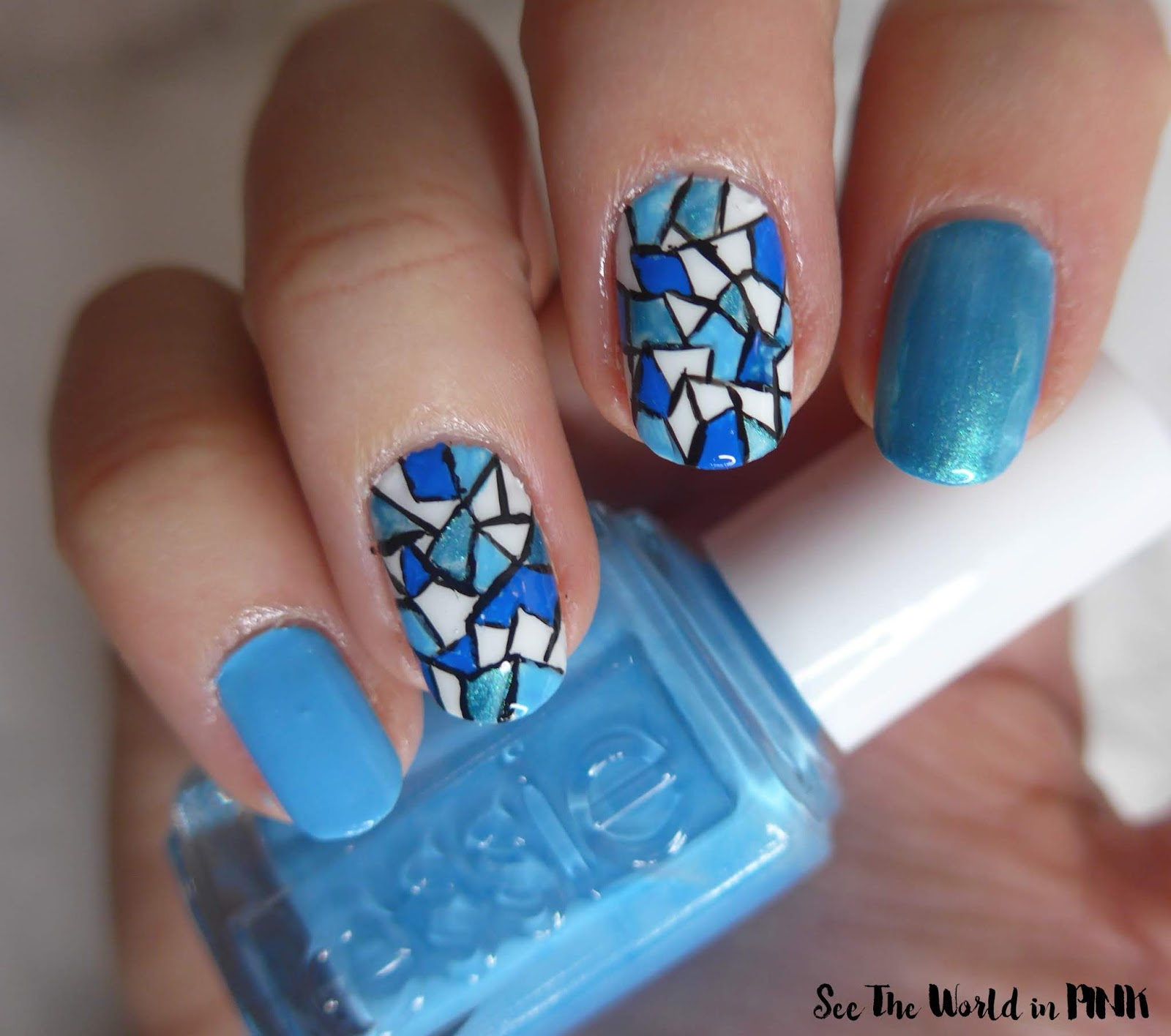 Manicure Monday - Stained Glass Nail Art