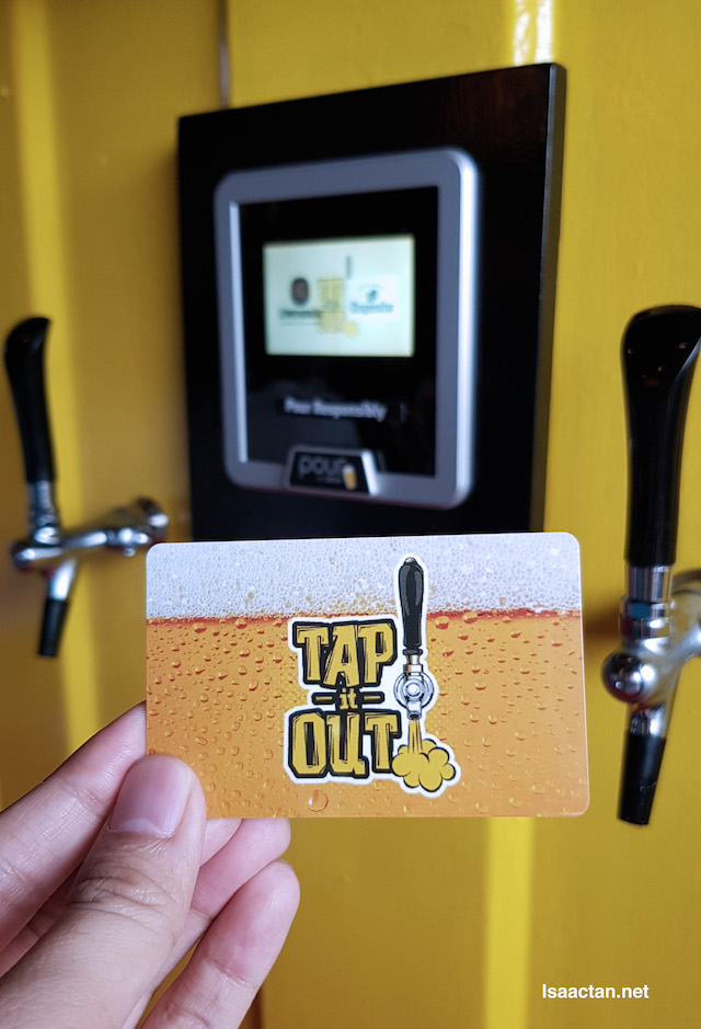 With the prepaid card, it will withdraw according to the beer poured out
