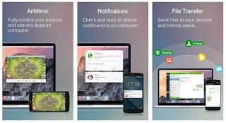 افضل, تطبيق, اندرويد, لنقل, الملفات, لاسليكاً, والتحكم, بالهاتف, من, الكمبيوتر, AirDroid