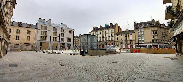 Vue sur la Place Saint-Germain depuis le Nord-Est (21 Février 2021)