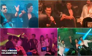 Salman Khan and  Shahrukh Khan Dance at Sonam Kapoor wedding