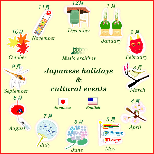 WKD - Saijiki for Festivals and Ceremonies: National Holidays Japan