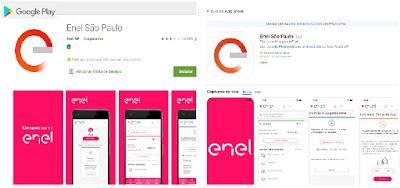 Imagem do Aplicativos da Enel São Paulo para android e iOS