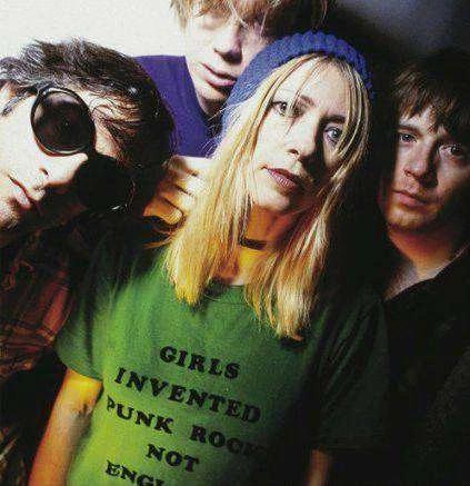 girls invented punk rock not england shirt Kim Gordon Sonic Youth.  PYGear.com
