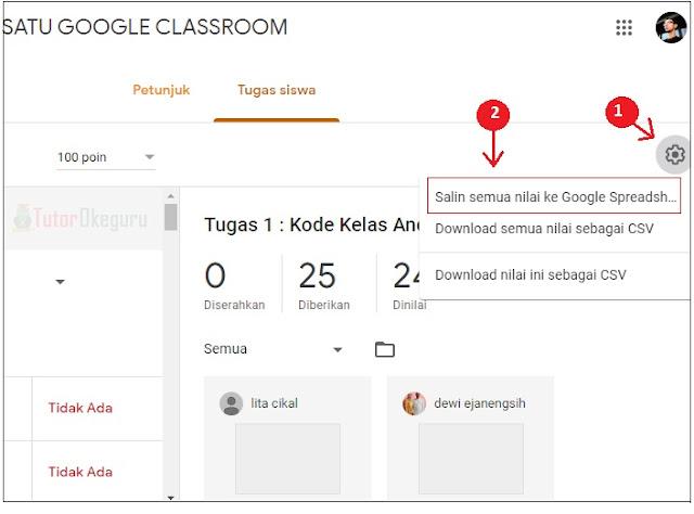cara download nilai google classroom