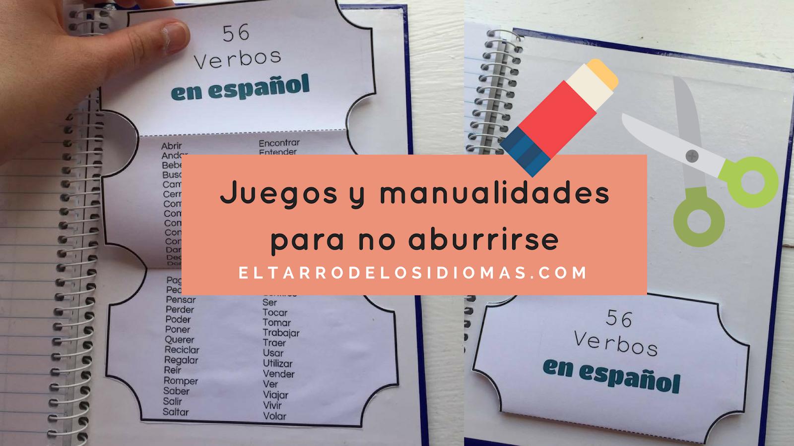 Cuadernos Interactivos Clase De Ele  Verbos  El Tarro De