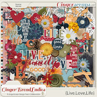 Kit : Live.Love.Life by GingerScraps designers