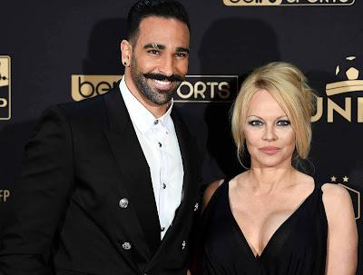 Adil Rami with his ex-girlfriend Pamela