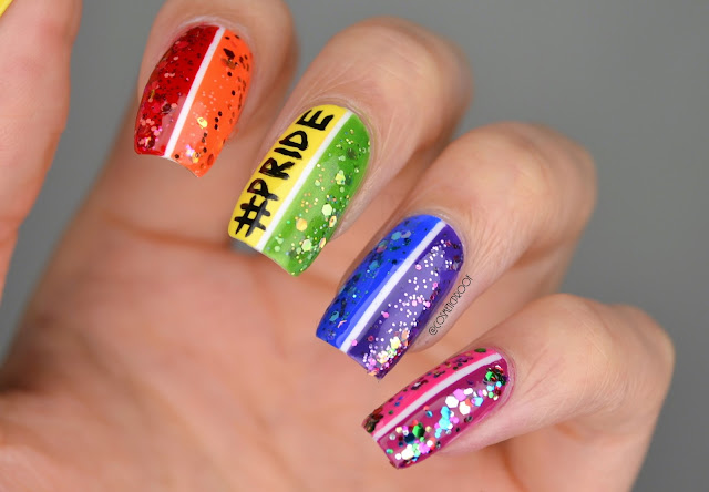 Sinful Colors Pride Hashtag Nail Art