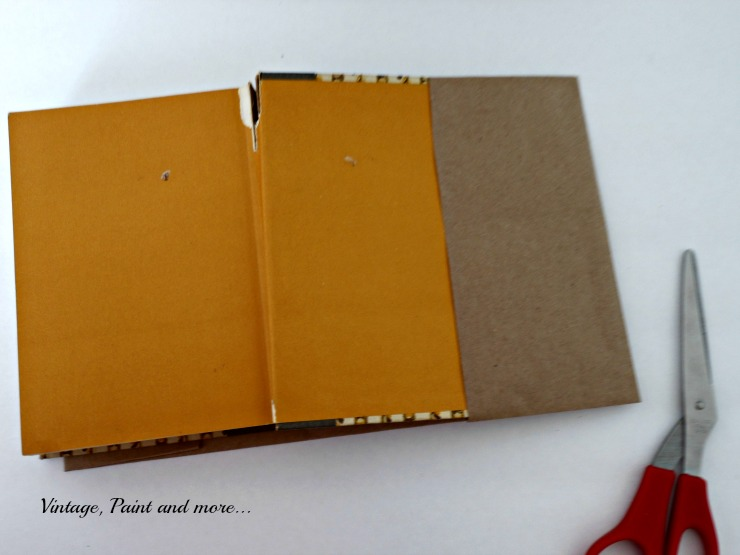 Vintage, Paint and more... tutorial for making a paper book jacket