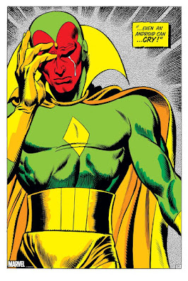 """Vision """"Even An Android Can... CRY!"""" The Avengers by John Buscema x Bottleneck Gallery x Marvel Comics"""