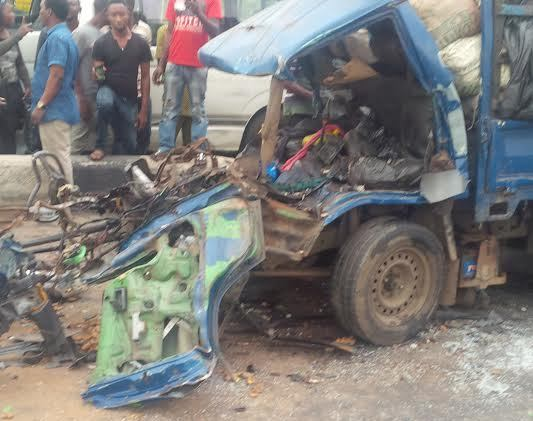 Graphic photos from the fatal accident in Ikorodu this morning