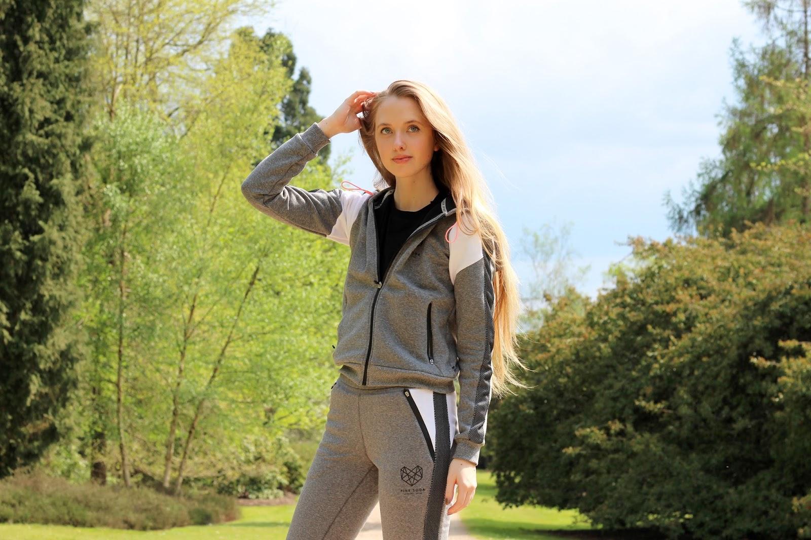 Pink Soda Sport Grey Tracksuit Blogger