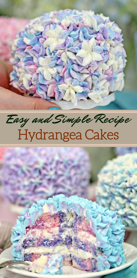 Hydrangea Cakes #desserts #cakerecipe #chocolate #fingerfood #easy