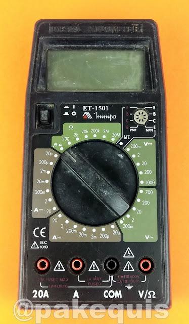 Multímetro Minipa ET-1501 de frente