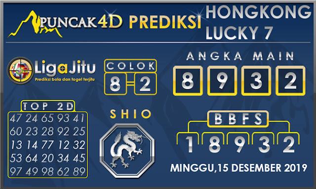 PREDIKSI TOGEL HONGKONG LUCKY7 PUNCAK4D 15 DESEMBER 2019