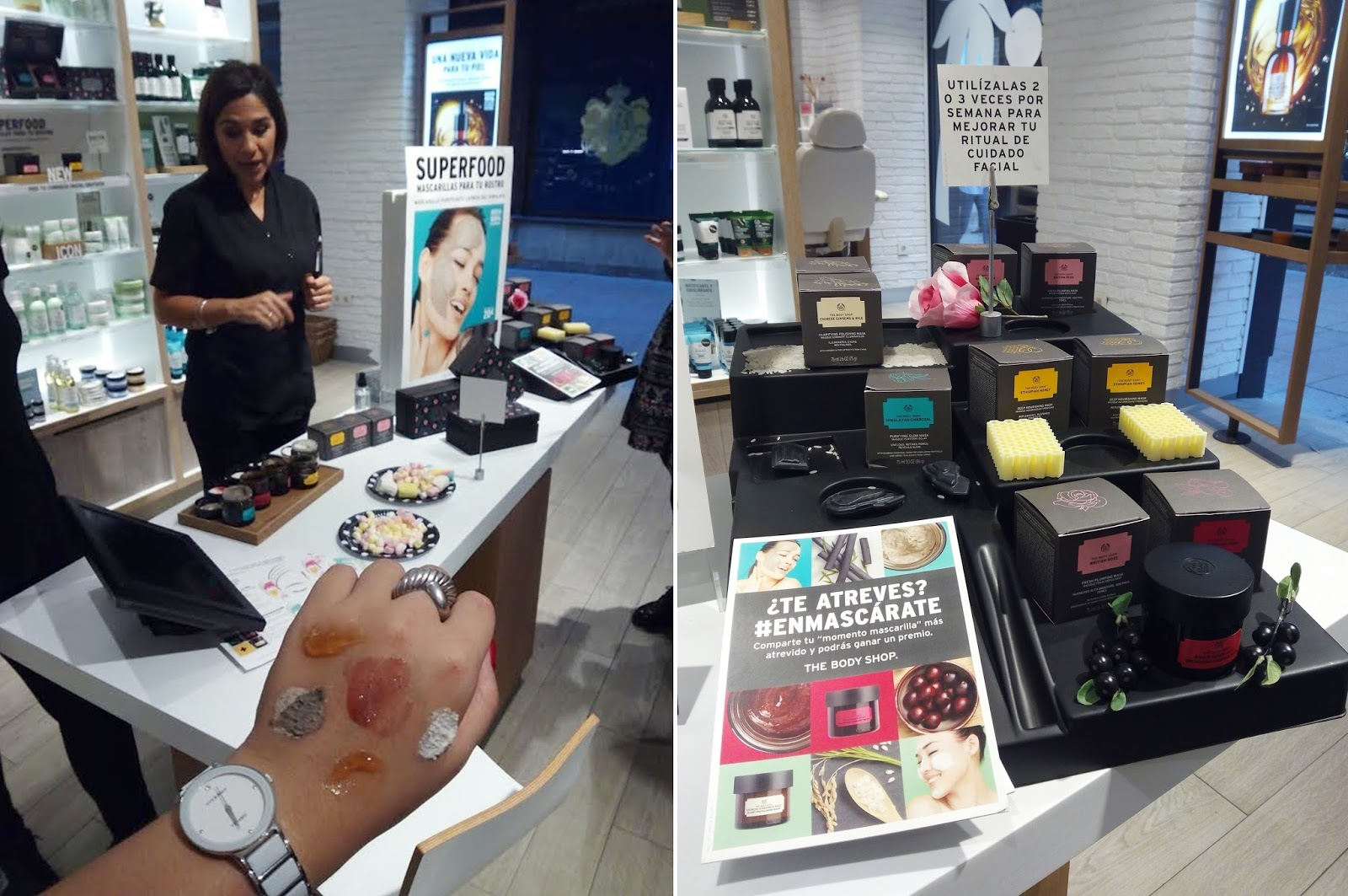 Evento de The Body Shop en Sevilla: mascarillas faciales