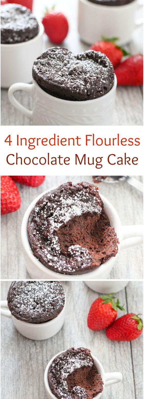 4 Ingredient Flourless Chocolate Mug Cake Recipe