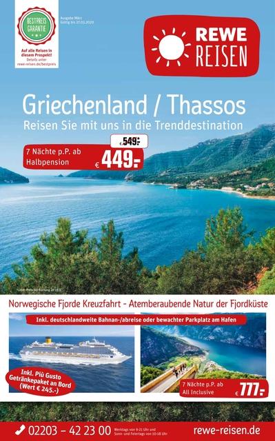 Griechenland - Thassos, Kreuzfahrt Norwegische Fjorde, Österreich - Salzburger Land