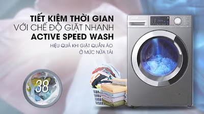 Tính năng Giặt nhanh 38 phút (Active Speed Wash)