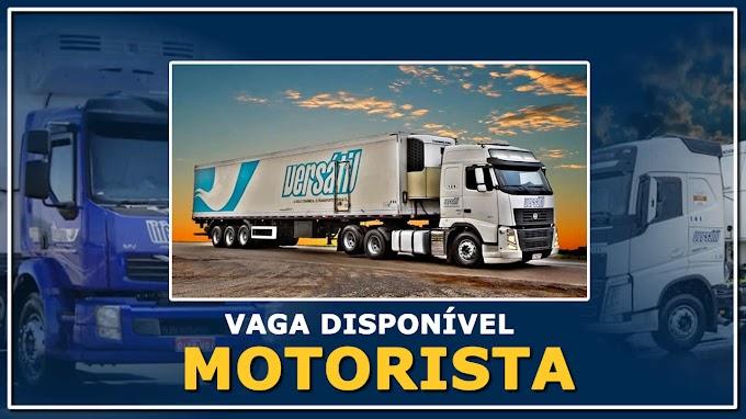 Transportadora Versatil abre vagas para Motorista Truck