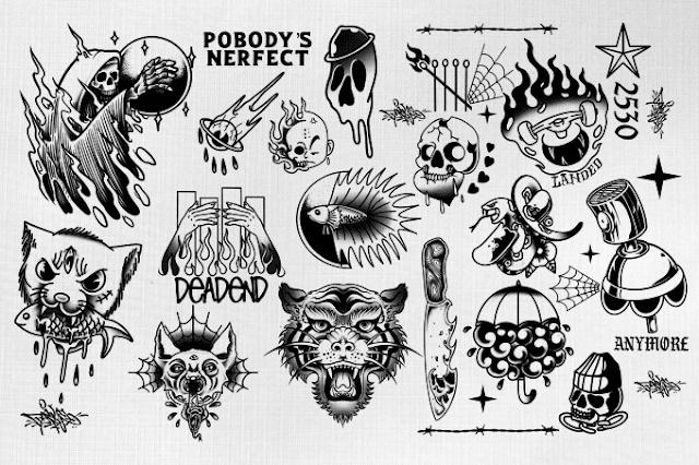 Great minimalist tattoo design - scythe tattoo - jason voorhees tattoo - stopwatch tattoo