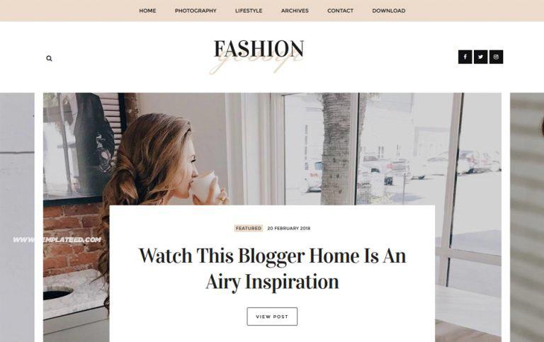 Fashion Gossip Responsive Blogger Template