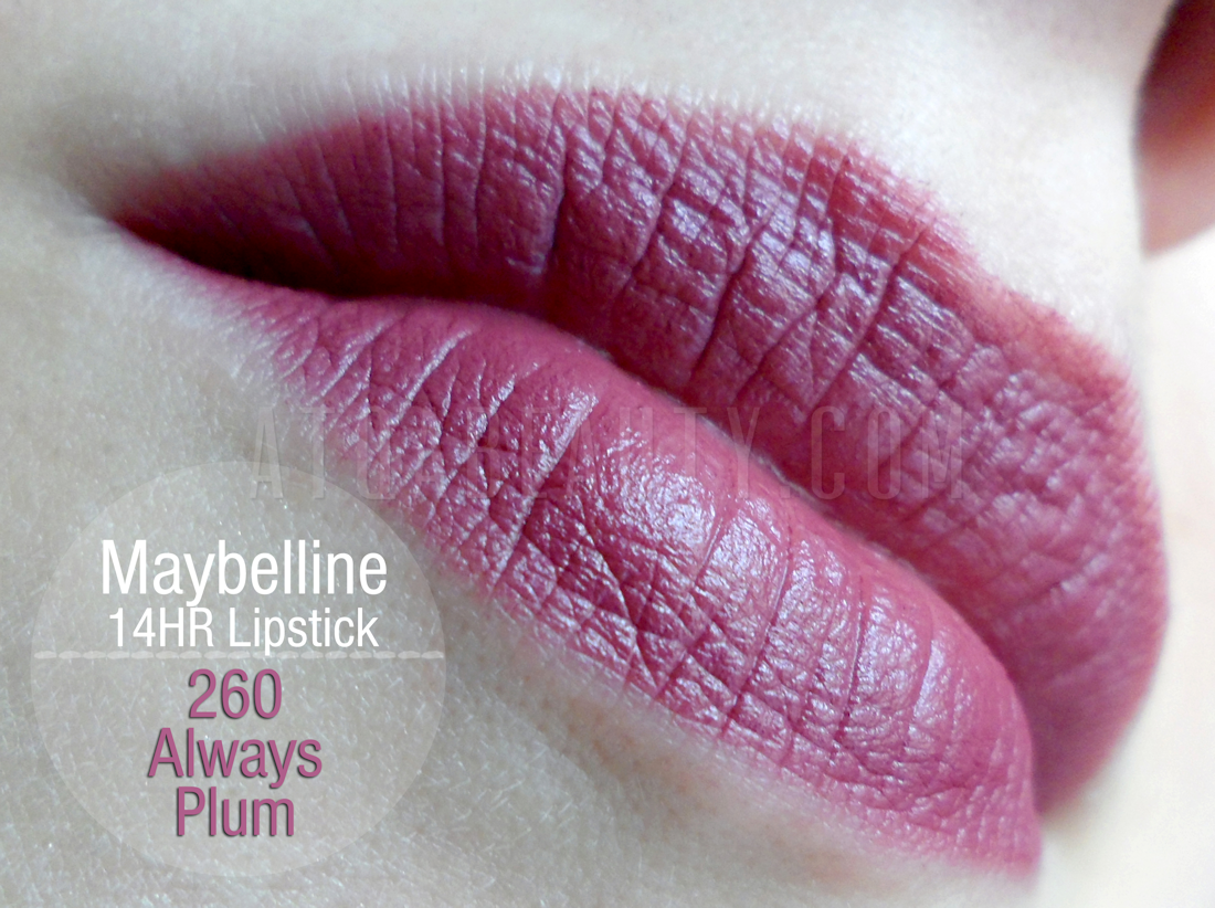 Maybelline, SuperStay, 14HR Lipstick, 260 Always Plum