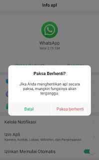a cara menonaktifkan whatsapp