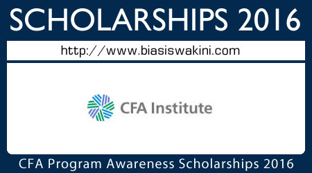 CFA Program Awareness Scholarships 2016