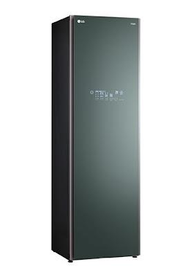 """Thiết kế thanh lịch và sang trọng của LG Styler S5GFO với màu xanh sương mù ngọc bích hay có thể gọi là """"xanh khói"""""""