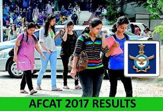 AFCAT 2017 Results, AFCAT Results 2017, Download AFCAT 2017 Results