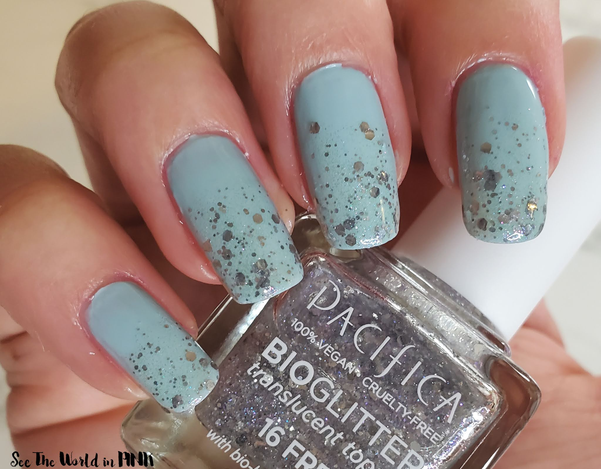 Manicure Tuesday - Pacifica Beauty Plant Magic Polish & BioGlitter Translucent Topper Polish