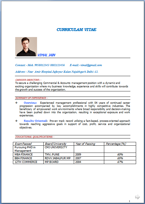 Top 10 Resumes For Freshers. Best Free Resume Samples 7 Free