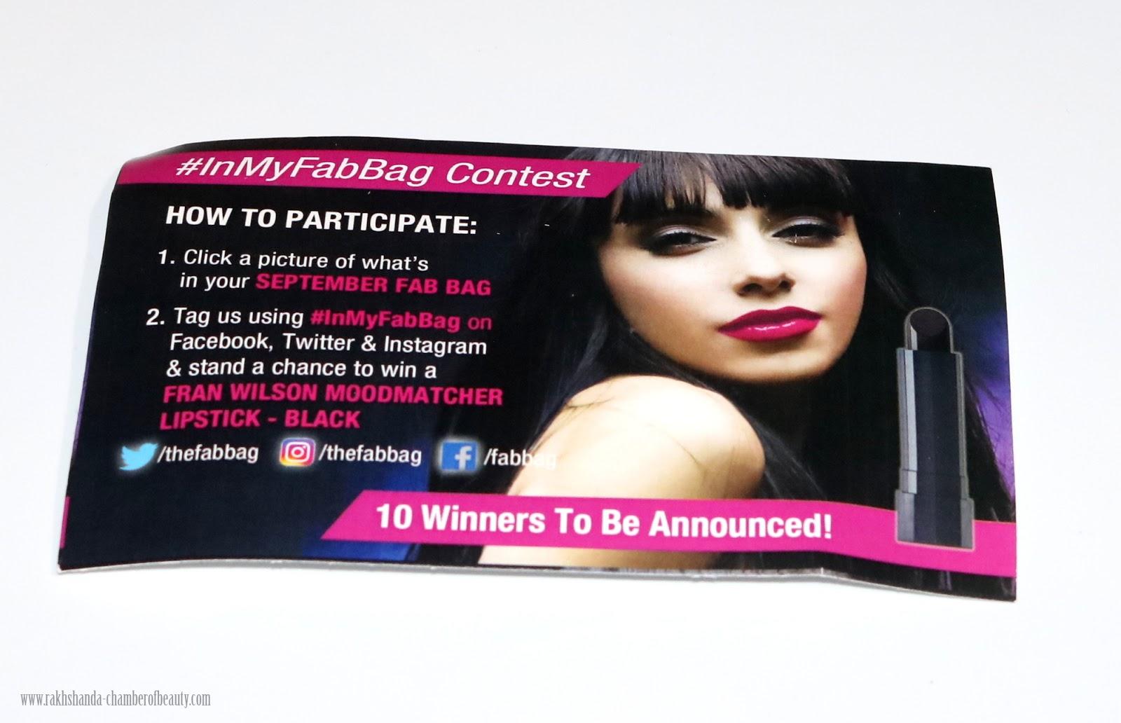 Fab Bag, FAB BAG UNBOXING, Indian beauty blog, Indian beauty blogger, SEPTEMBER FAB BAG, SEPTEMBER FAB BAG REVIEW,