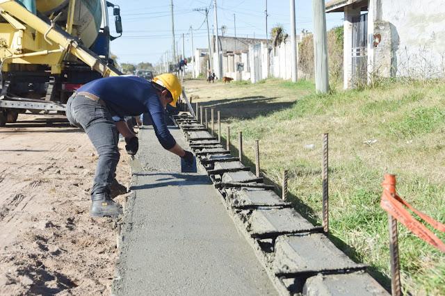 Construcción: La gestión Zurro superó los 45 kilómetros lineales de cordón cuneta