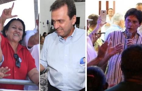 Fátima venceria de Carlos Eduardo e Robinson em segundo turno