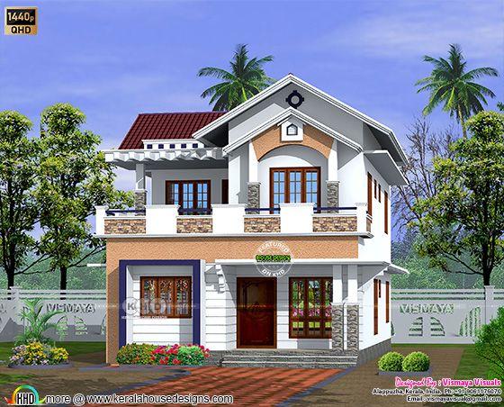 3 bedroom simple villa architecture