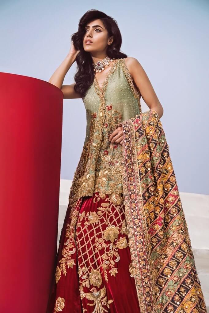 Shiza Hassan Pakistan Peplum Wedding Dress