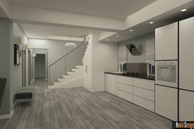 Proiectarea si amenajarea unui apartament pe doua niveluri cu terasa