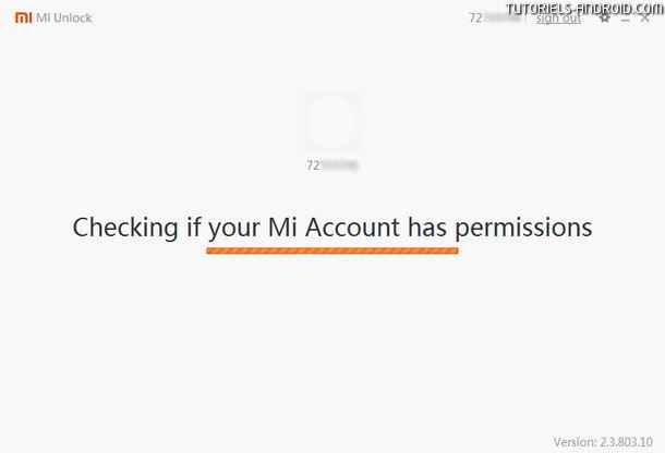 Unlock Bootloader Xiaomi : vérification des permissions