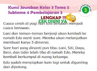 Kunci Jawaban Tematik Kelas 3 Tema 5 Subtema 4 Pembelajaran 3 www.simplenews.me