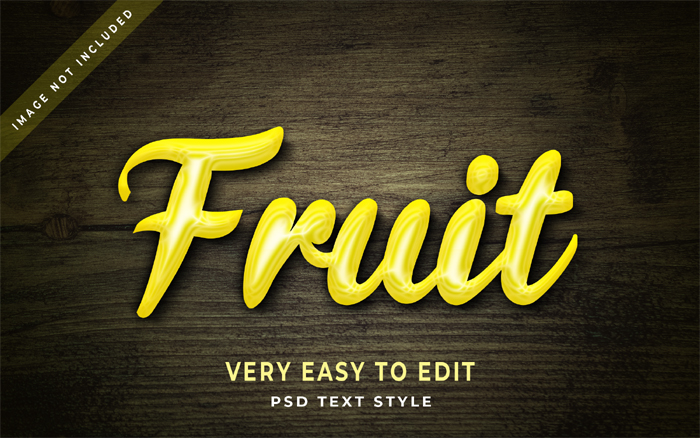 Fruit 3D Text Effect Generatora And Text Style Effect